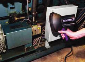 油圧作動油漏れ検知システム